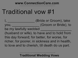 traditional marriage vows talkofjesus com